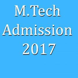 M.Tech Admission 2017