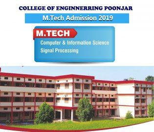 M.Tech Admission 2019
